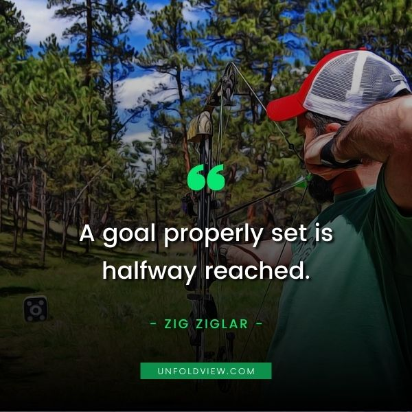 set goal properly quotes