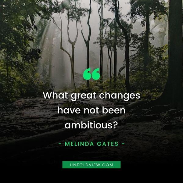 melinda gates ambitious quotes