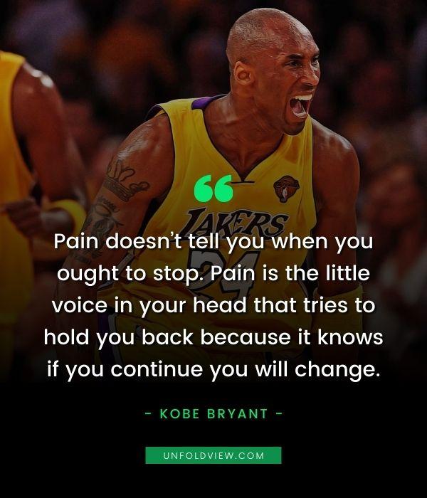 pain quotes kobe bryant