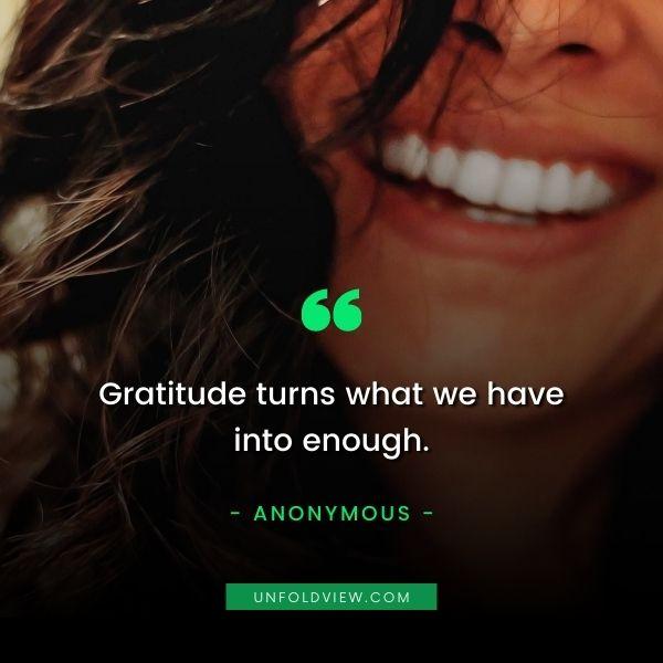 gratitude enough quotes