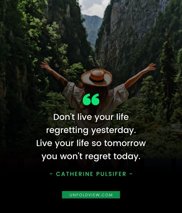 no life regret quotes catherine pulsifer