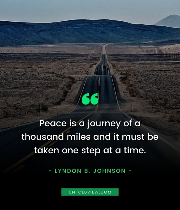 peace is journey quotes lyndon b. johnson
