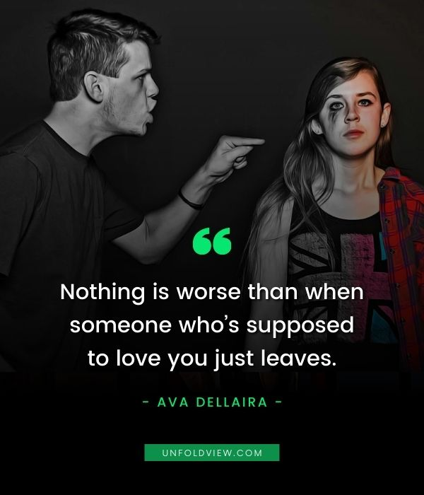 someone love you just leave sad quotes