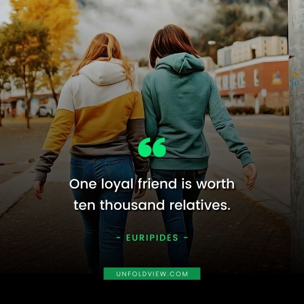 what is good friend quotes euripides