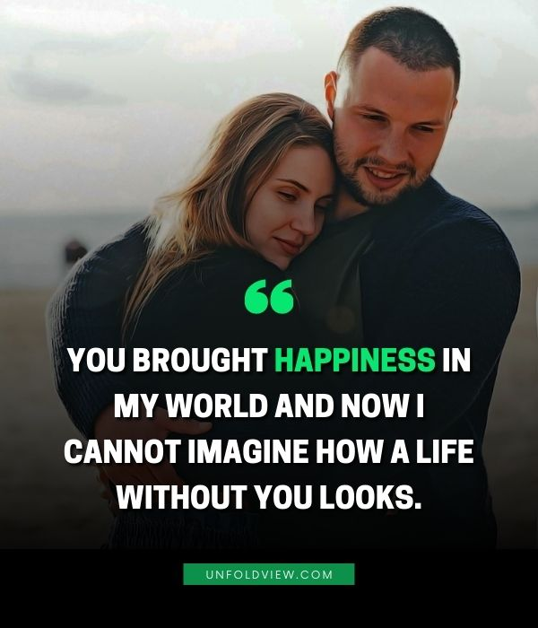 you brought happiness love quotes