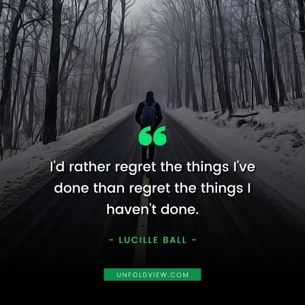regret in love quotes Lucille Ball