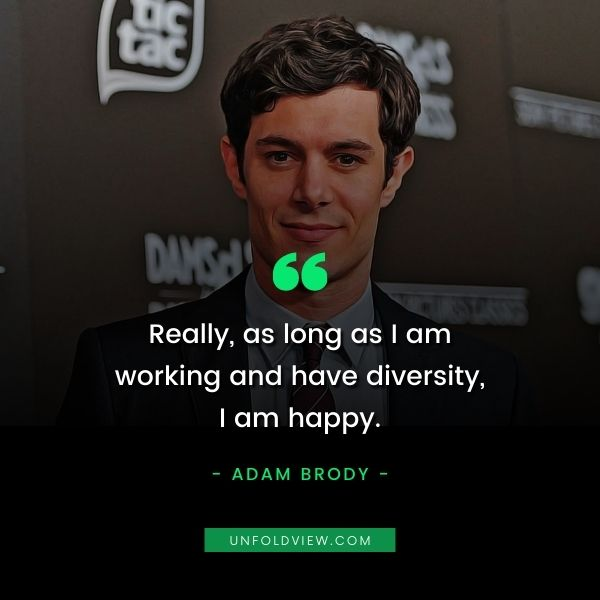 what makes me happy quotes Adam Brody