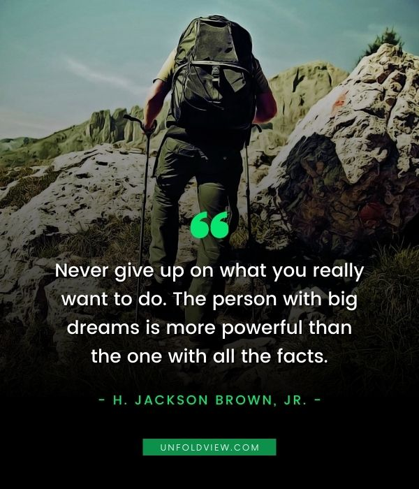 never give up on dreams quotes H. Jackson Brown, Jr.