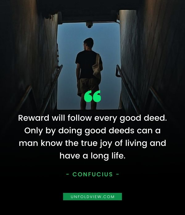 self reward good deed quotes Confucius