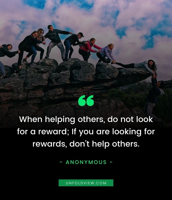 self reward help others quotes
