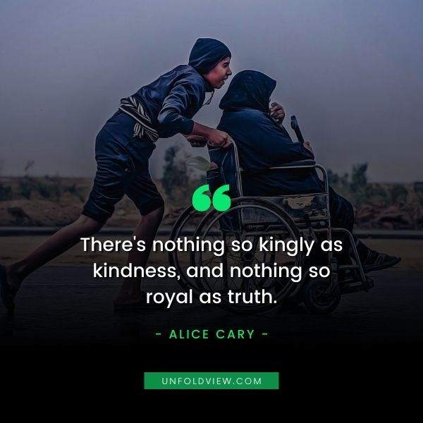 speak with kindness quotes Alice Cary